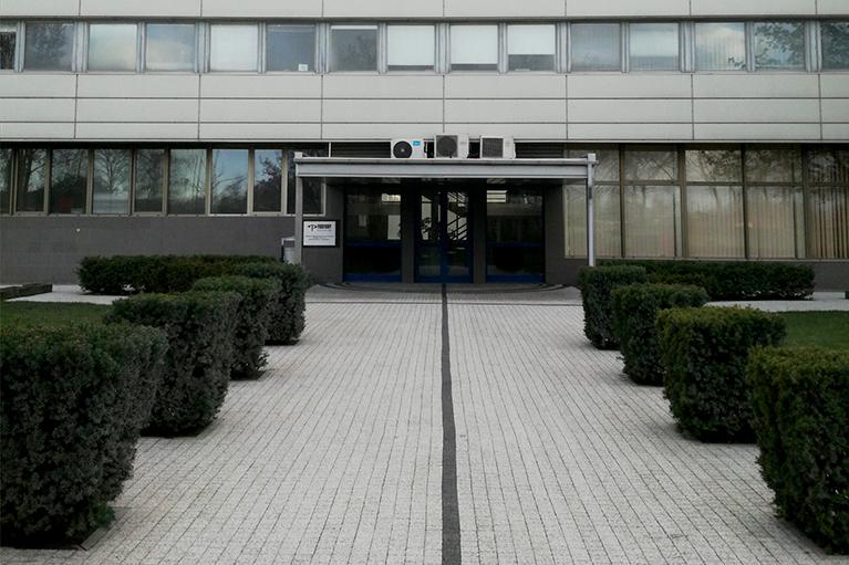 Czyszczenie kostki przed budynkiem w Gdańsku po