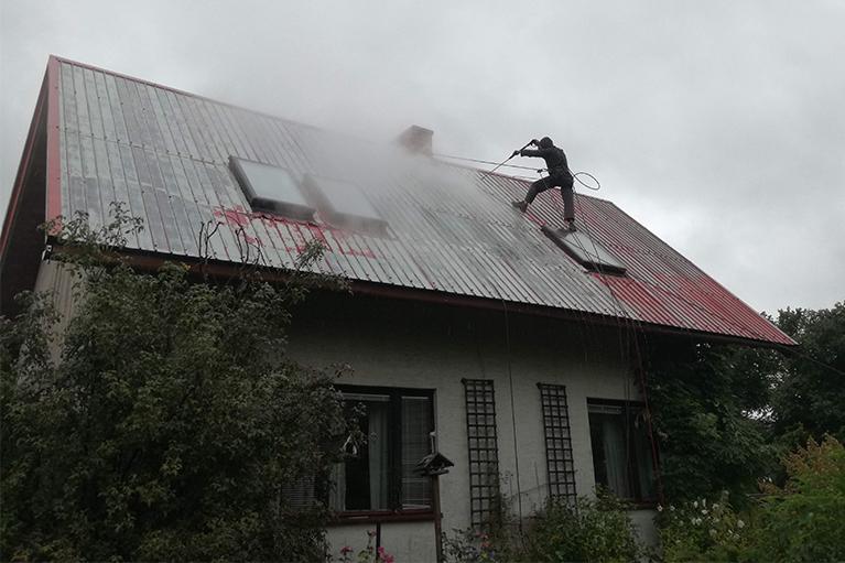 Gdańsk czyszczenie i malowanie dachu 3